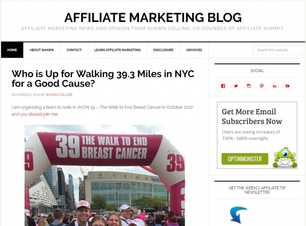 affiliate tip blog