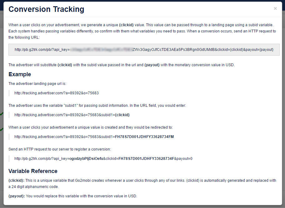 conversion tracking