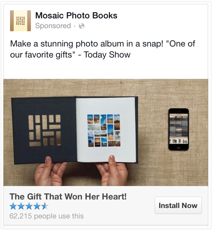 facebook ad headline photography