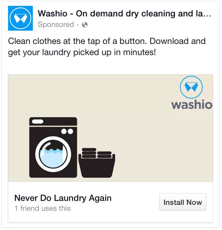 facebook ads concise headline example 3
