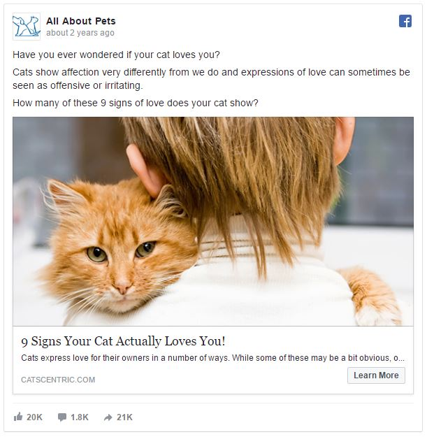 facebook ads pets