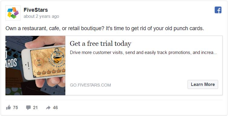 facebook ad headline with benefit