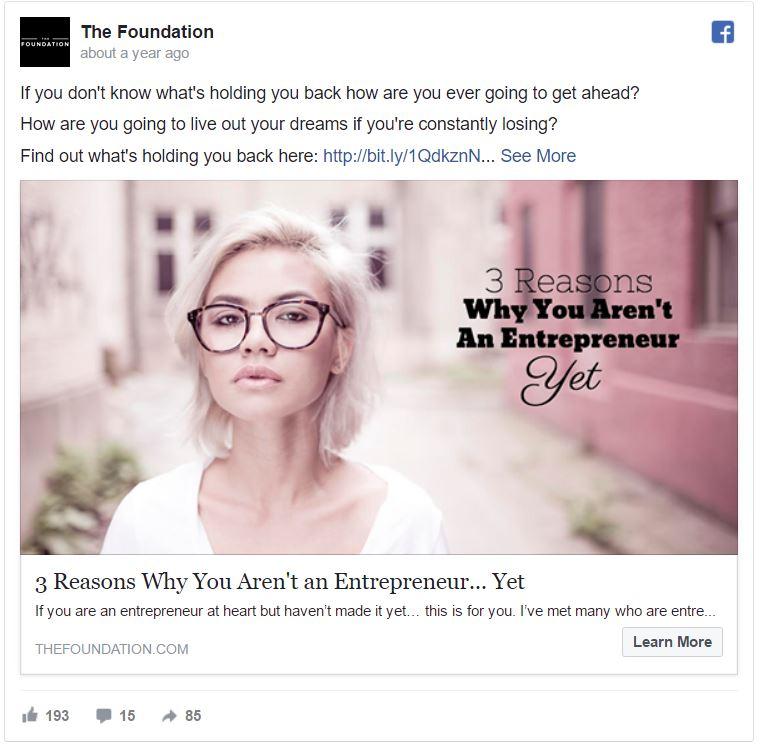 facebook ad campaign 5