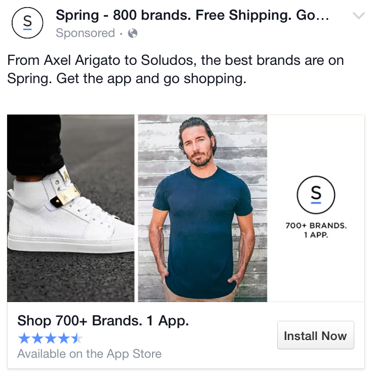 facebook ad headline example