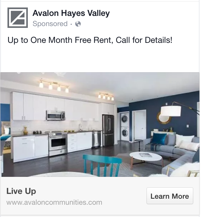 facebook ads concise headline example