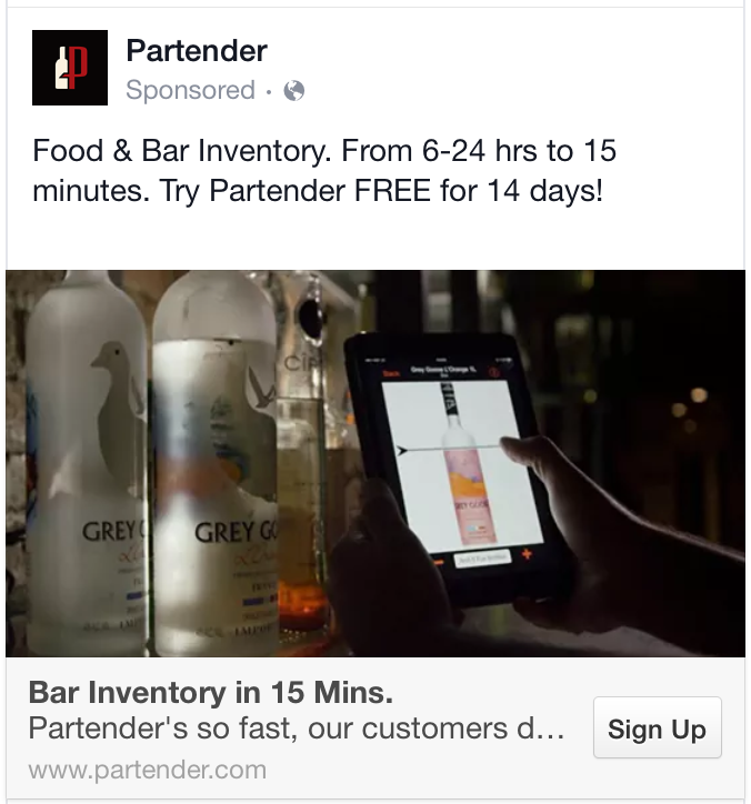 facebook ads concise headline example 2