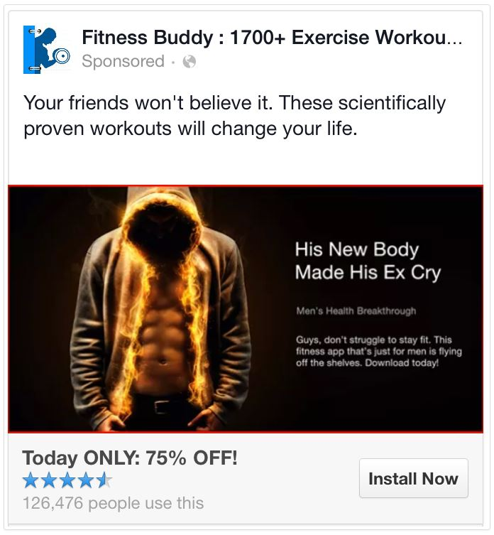 facebook ads headline with a benefit